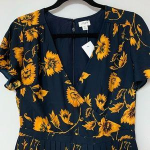 J. Crew Dresses - Beautiful sunflower dress.